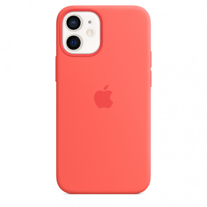 iPhone 12 mini Silicone Case with MagSafe - Pink Citrus 3