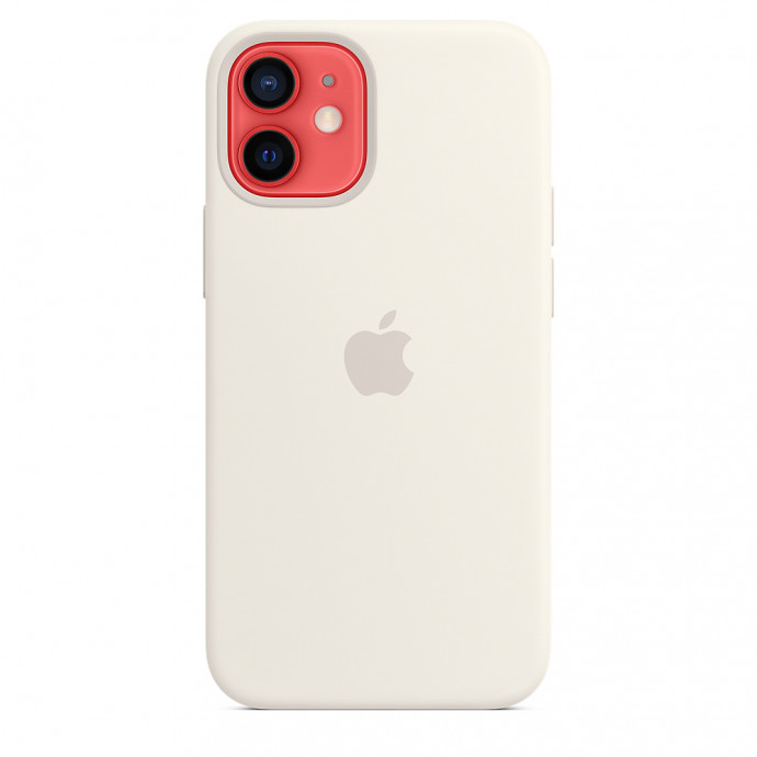 iPhone 12 mini Silicone Case with MagSafe - White 3