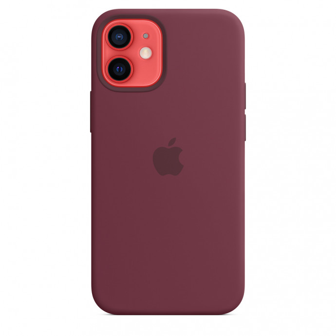 iPhone 12 mini Silicone Case with MagSafe - Plum 1