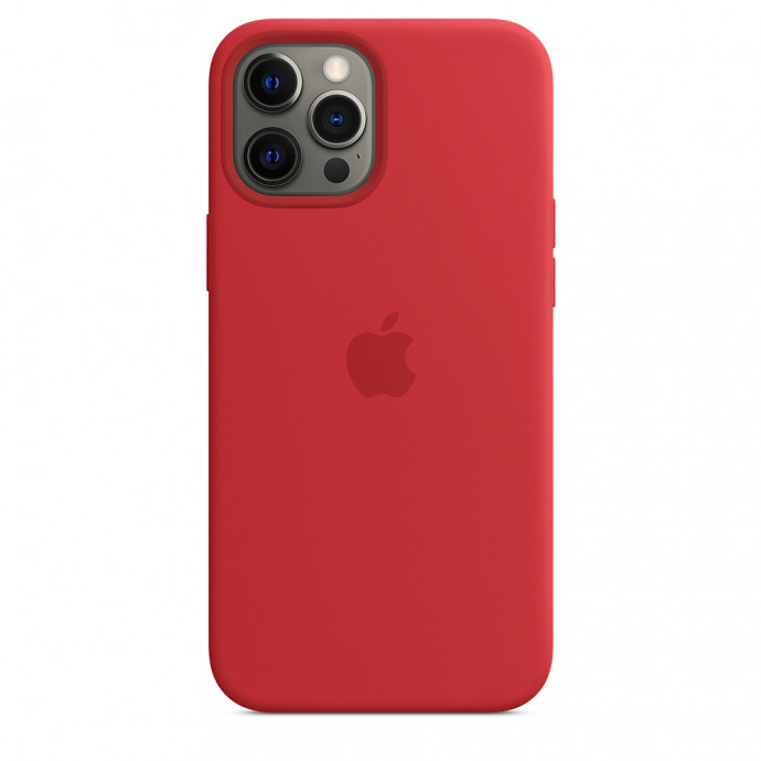 iPhone 12 Pro Max Silicone Case with MagSafe - (PRODUCT)RED 3