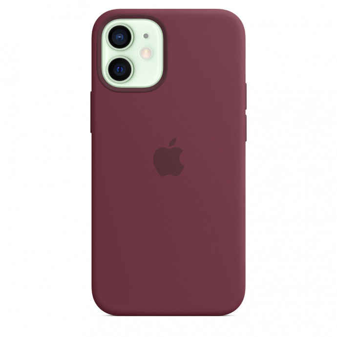 iPhone 12 mini Silicone Case with MagSafe - Plum 2