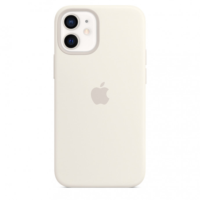 iPhone 12 mini Silicone Case with MagSafe - White 2