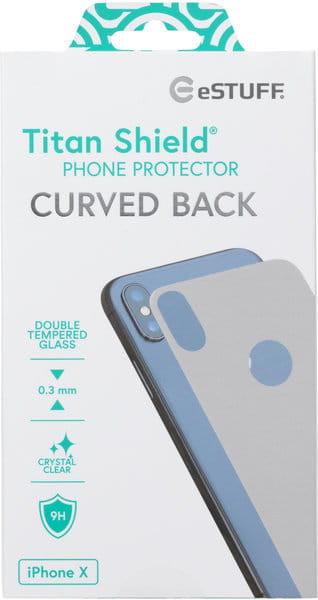 eSTUFF TitanShield Apple iPhone X/Xs Rear Silver 0