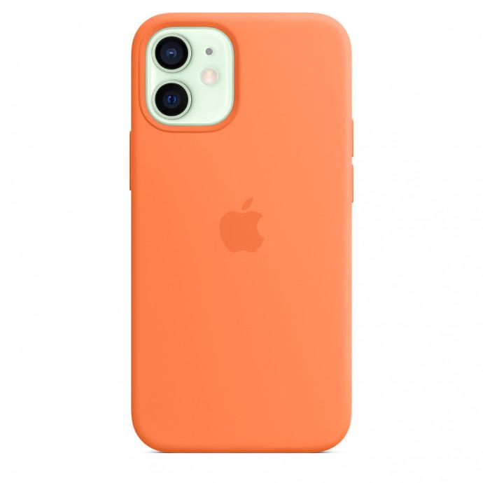 iPhone 12 mini Silicone Case with MagSafe - Kumquat 4