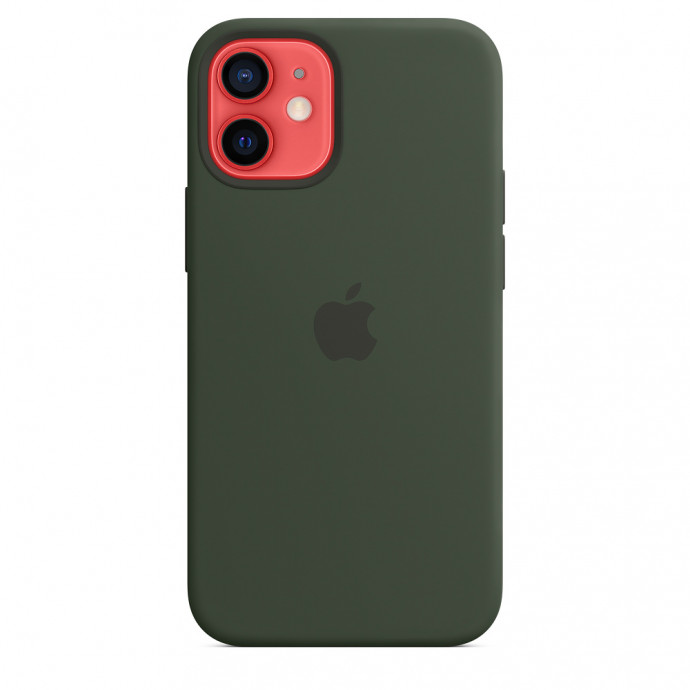 iPhone 12 mini Silicone Case with MagSafe - Cyprus Green 3