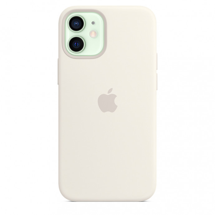 iPhone 12 mini Silicone Case with MagSafe - White 1