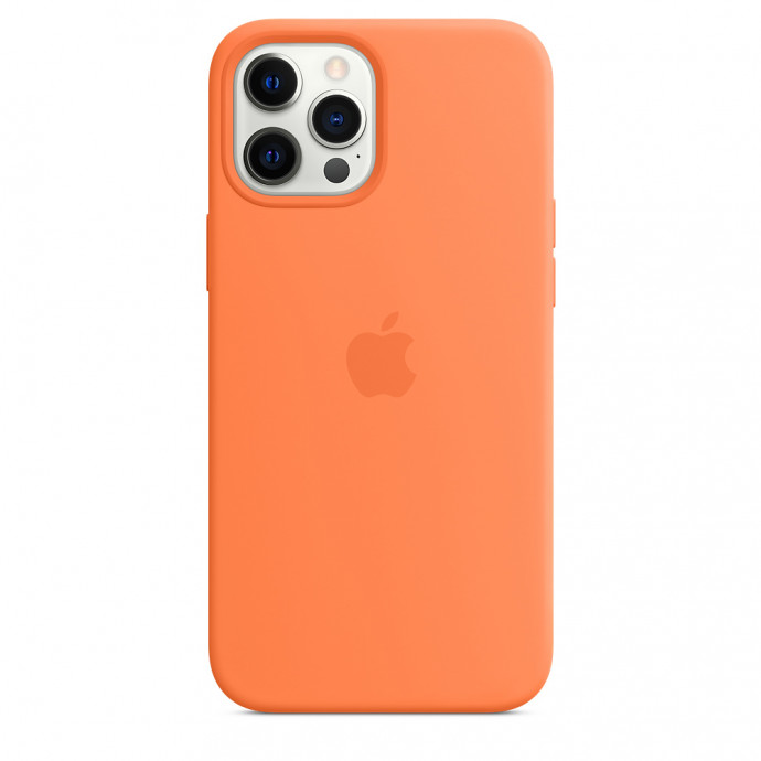 iPhone 12 / 12 Pro Silicone Case with MagSafe - Kumquat 3