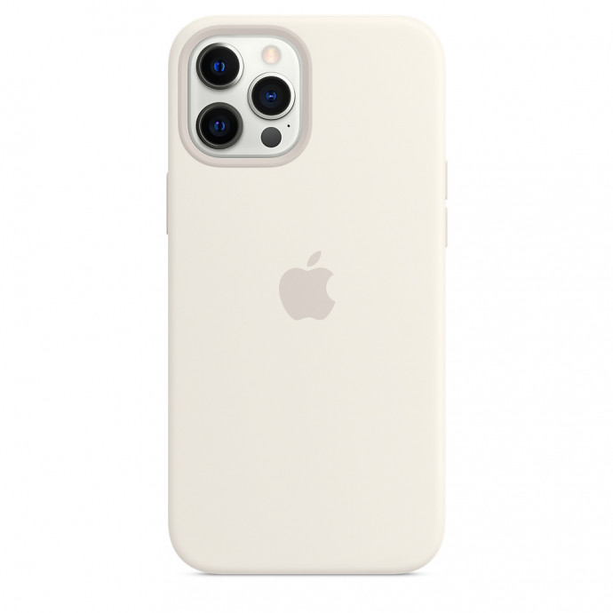 iPhone 12 / 12 Pro Silicone Case with MagSafe - White 1