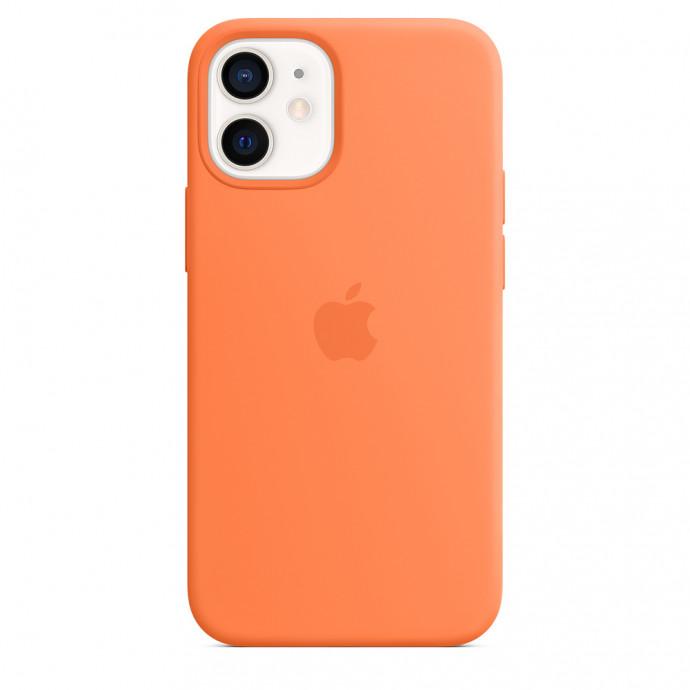 iPhone 12 mini Silicone Case with MagSafe - Kumquat 3
