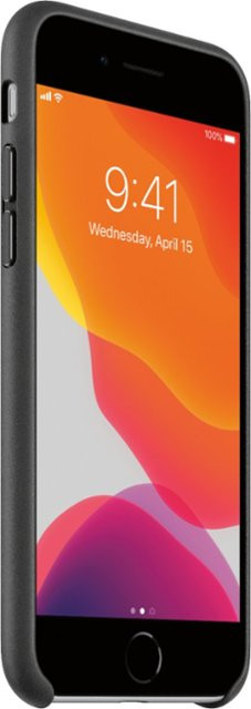 iPhoneSE Leather Case - Black 2