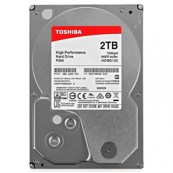 "Cietais disks 2TB - Toshiba P300 SATA3 3.5"" 7200RPM 64MB cache 1"