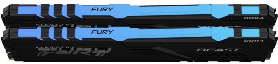 Operatīvā Atmiņa Kingston Fury Beast RGB 16GB (2x8GB) 3000MHz CL15, Kit of 2, DDR4 1