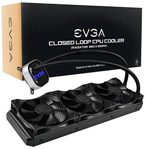 Procesora ūdensdzese EVGA CLC 360 400-HY-CL36-V1 All-In-One RGB LED CPU Liquid Cooler, 3x FX12 120mm PWM Fans, Intel, AMD 1