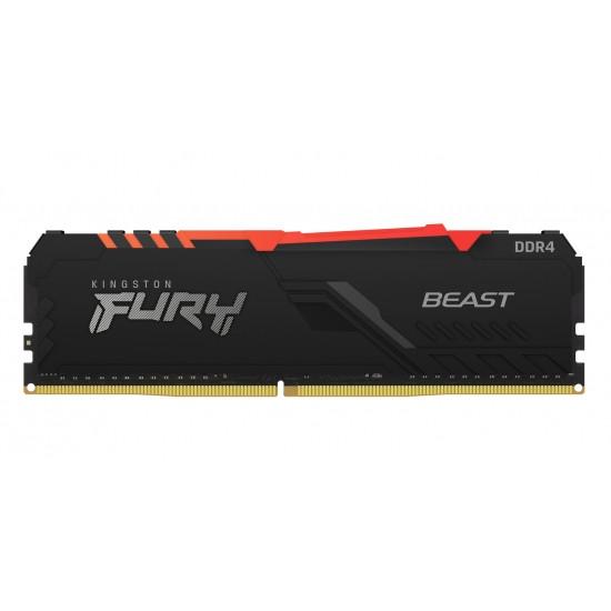 Operatīvā Atmiņa Kingston Fury Beast RGB 8GB (1*8GB) 2666Mhz CL16 Memory DDR4 0