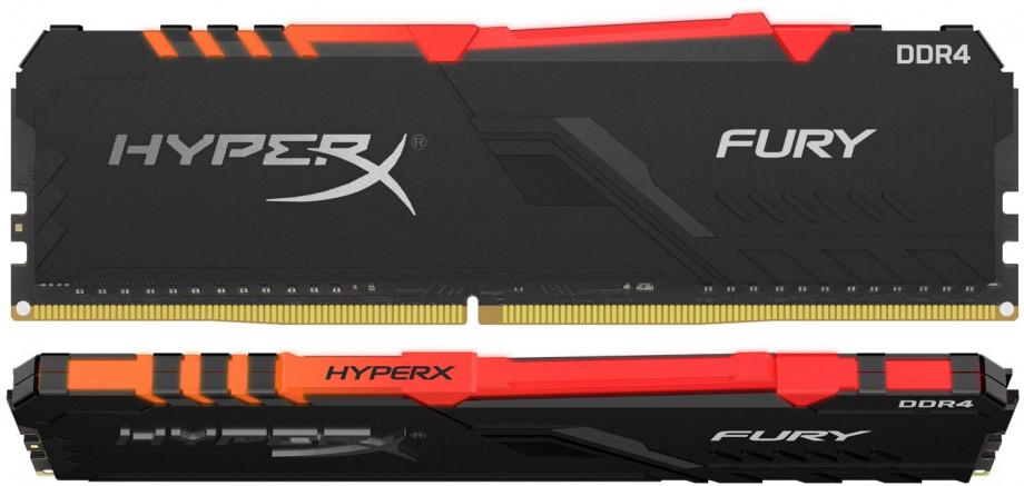 Operatīvā atmiņa Kingston HyperX FuryRGB 16GB (2x 8GB) DDR4-3200 CL16 DIMM PC25600 RGB 0