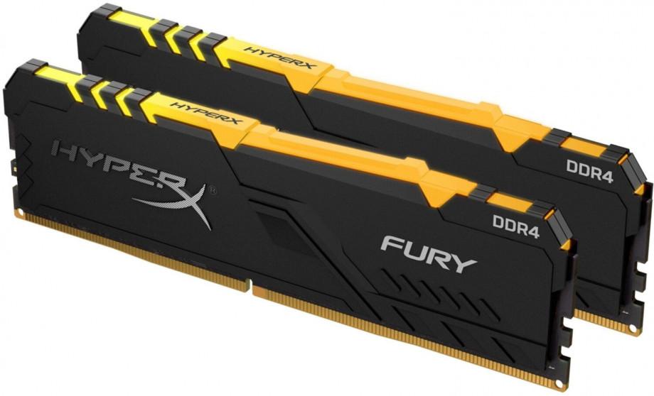 Operatīvā atmiņa Kingston HyperX FuryRGB 16GB (2x 8GB) DDR4-3200 CL16 DIMM PC25600 RGB 1