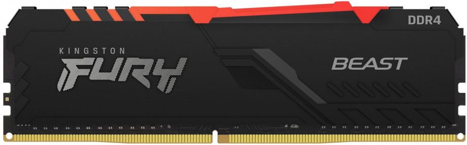 Operatīvā Atmiņa Kingston Fury Beast RGB 8GB(1*8GB)/3200 CL16 DDR4 0