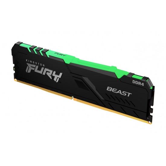 Operatīvā Atmiņa Kingston Fury Beast RGB 8GB (1*8GB) 2666Mhz CL16 Memory DDR4 1