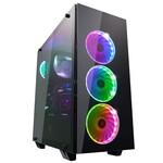 Korpuss Fortron CMT340 Glass ATX 4 RGB FAN POC0000061