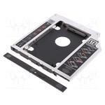 "Pāreja 2.5"" SSD/ HDD instalation frame in 9.5mm Slim 5.25"" CD/ DVD slot, Digitus"