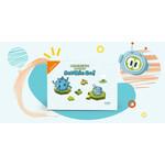Interaktīva programmēšanas spēle Scottie Go! Magnetic Tiles magnētiskā versija