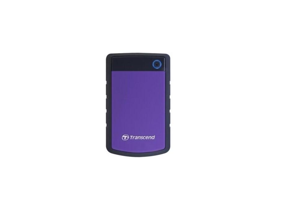 """Ārējais cietais disks Transcend StoreJet 2.5"""" 1TB USB 3.0 (Rubber Case, Anti-Shock) Purple 1"""