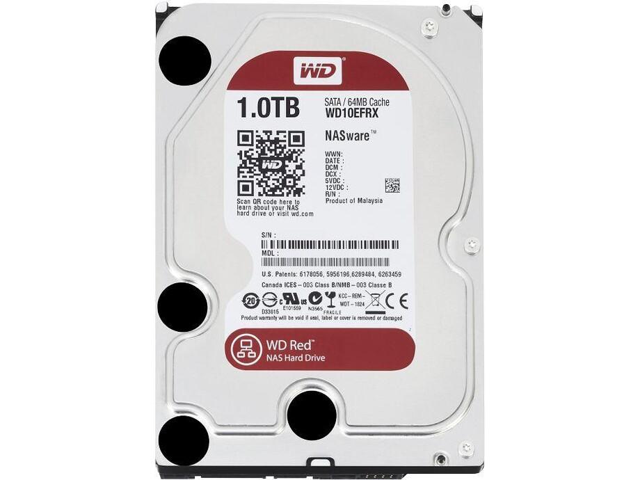 Cietais disks WD Red Drive 1TB SATAIII 64MB 0