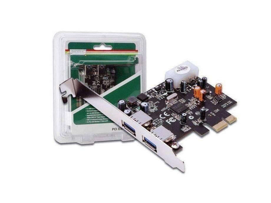 Digitus kontrolieris PCIe USB 3.0 CARD, 2 Port 0