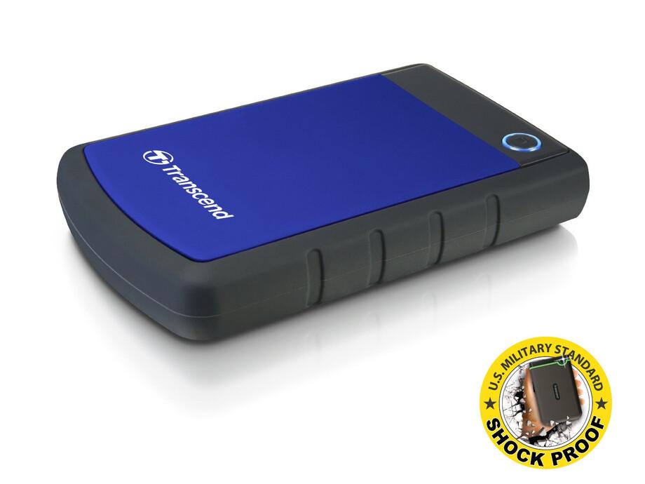 """Ārējais cietais disks Transcend 2TB External 2.5"""" HDD, USB 3.0,  Anti -Shock 1"""