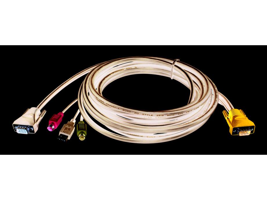 Kabelis KVM-403, KVM 4-in-1 cable, 5m 0