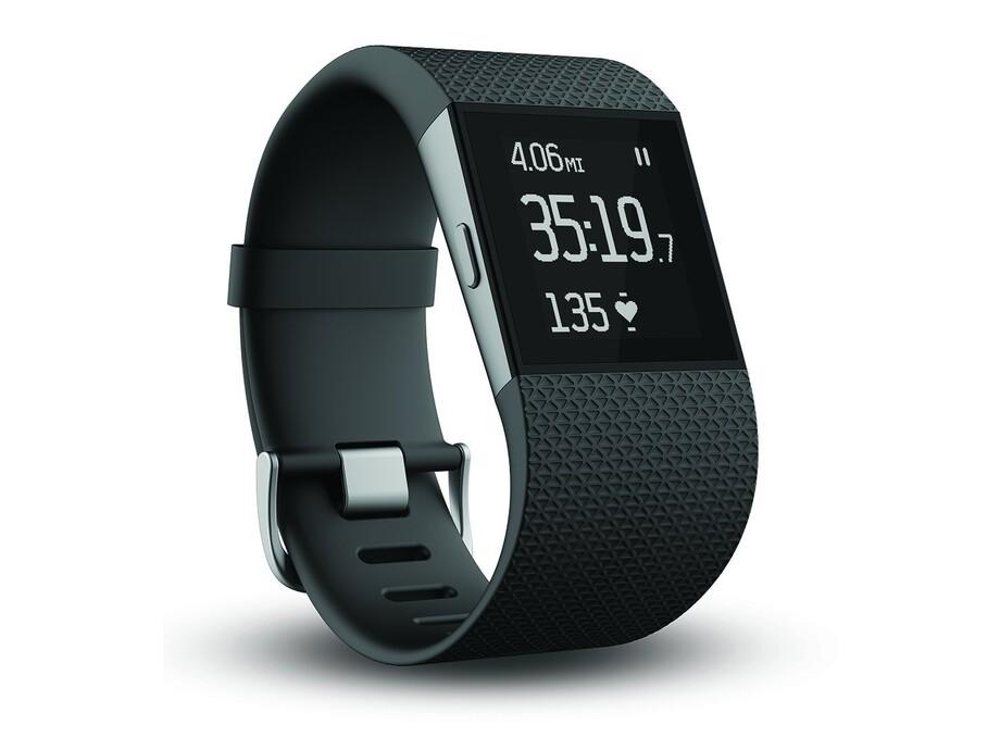 Fitnesa aproce Fitbit Surge, Large Melns (Black) 0