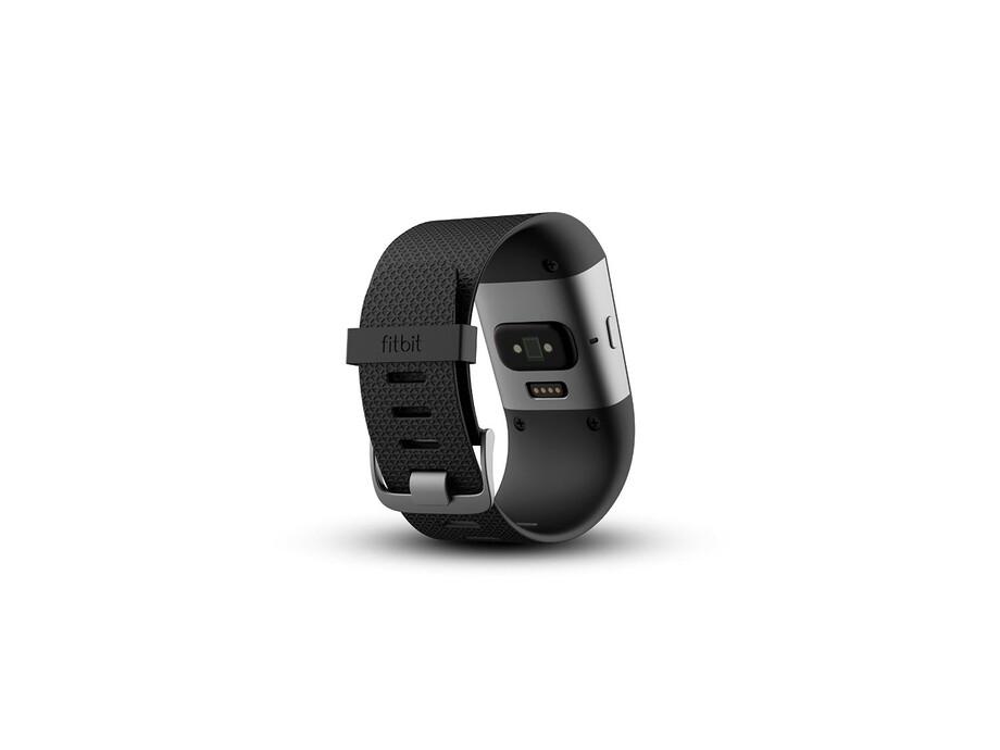 Fitnesa aproce Fitbit Surge, Large Melns (Black) 2