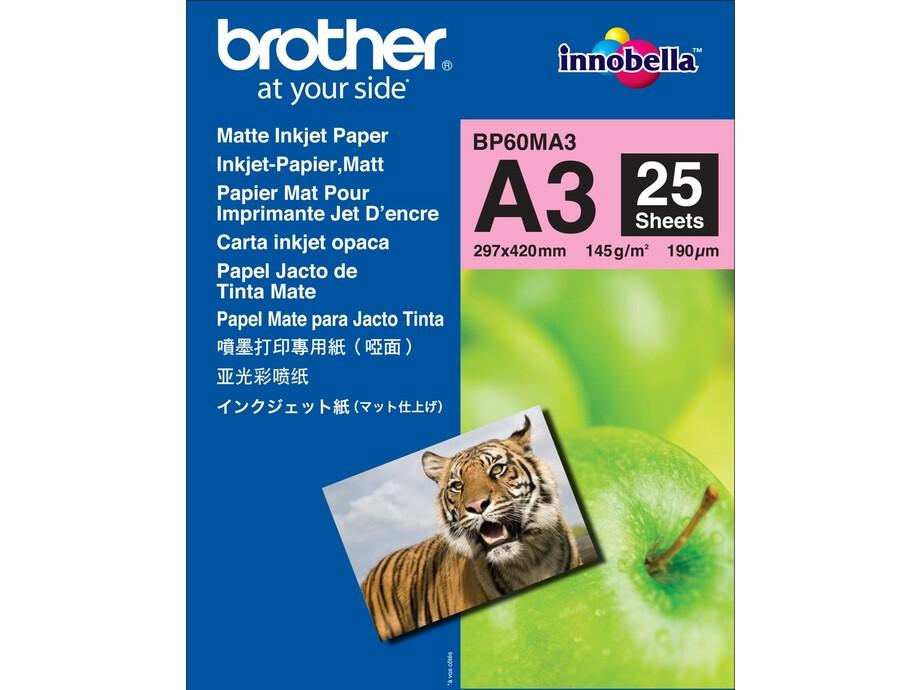 Papīrs Matt A3 Brother papīrs 145g/m2, 25 loksnes 0