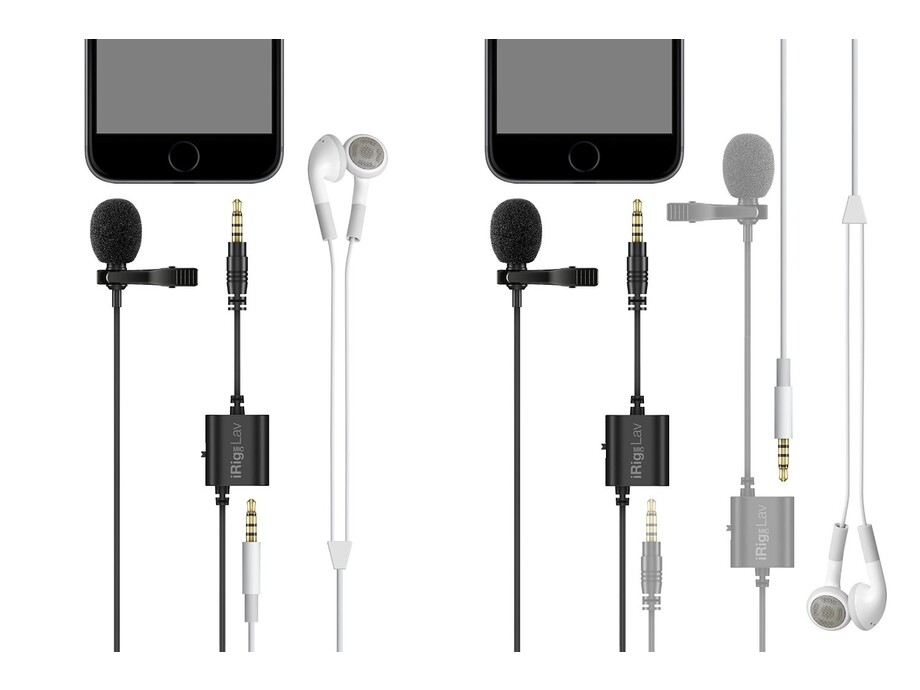 IK Multimedia iRig Mic Lav mobile lavalier with built-in monitoring capability iOs Android 2