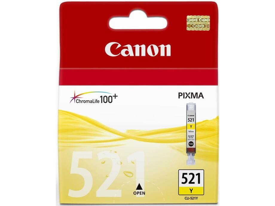 Tintes kasete Canon CLI-521Y - yellow 0