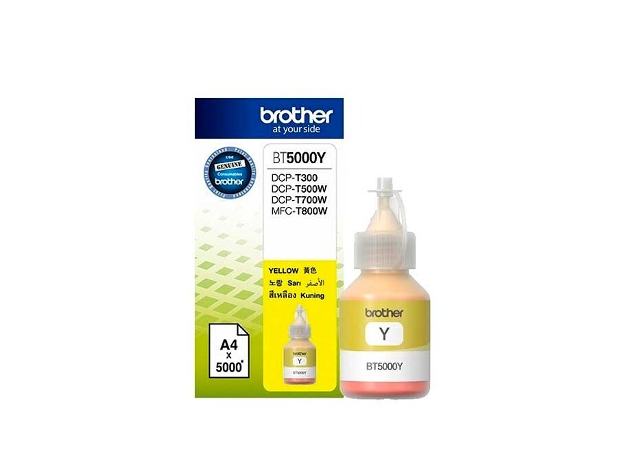 Tintes pudele Brother BT5000Y - Yellow | 5000 pgs 0