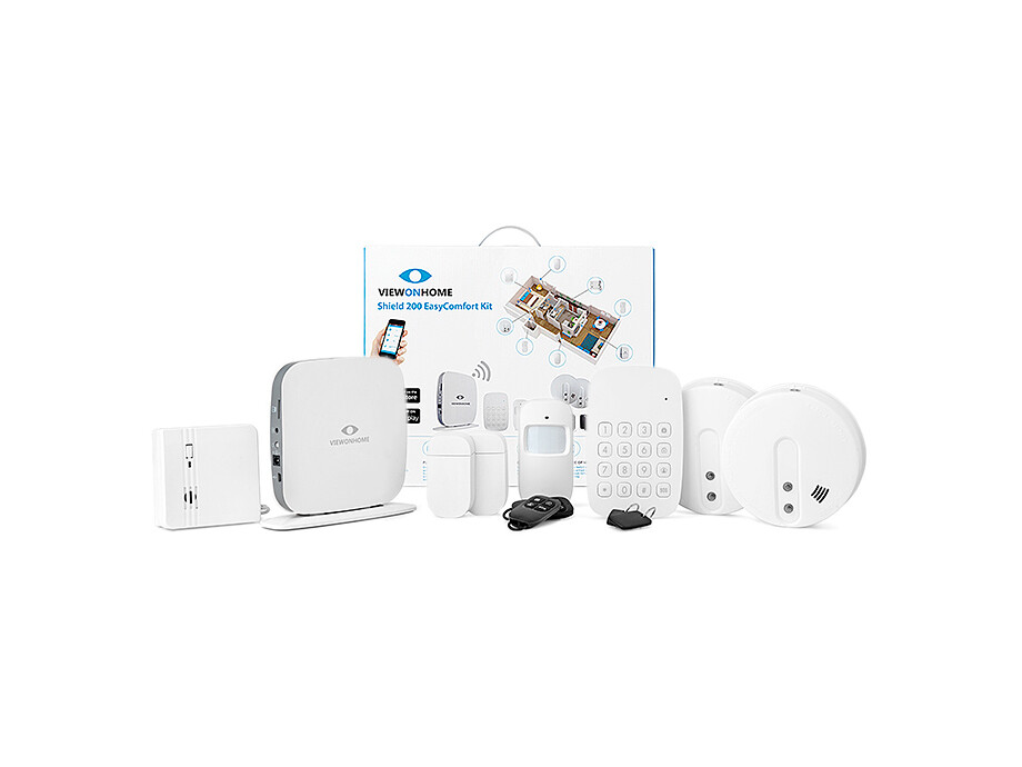 ViewOnHome Shield200 EasyProtect kit + 2x Smoke detector 1x water detector 0