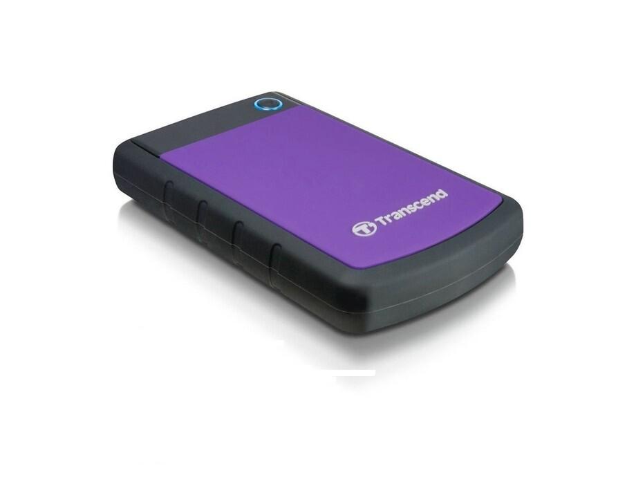 """Ārējais cietais disks Transcend StoreJet 2.5"""" 1TB USB 3.0 (Rubber Case, Anti-Shock) Purple 0"""
