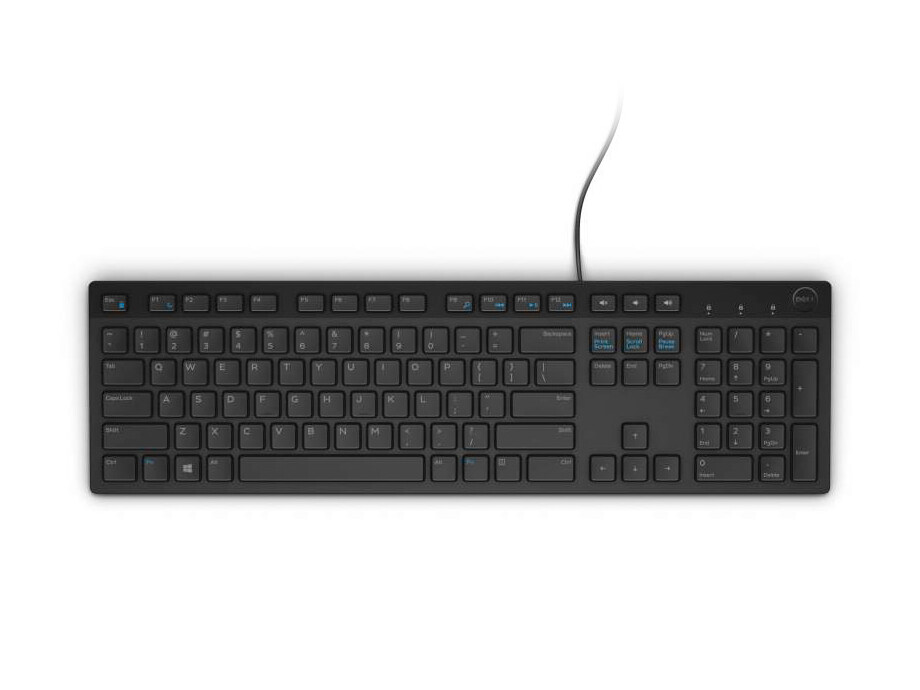 Klaviatūra Dell KB216 Multimedia Keyboard, Black, US/RUS 0