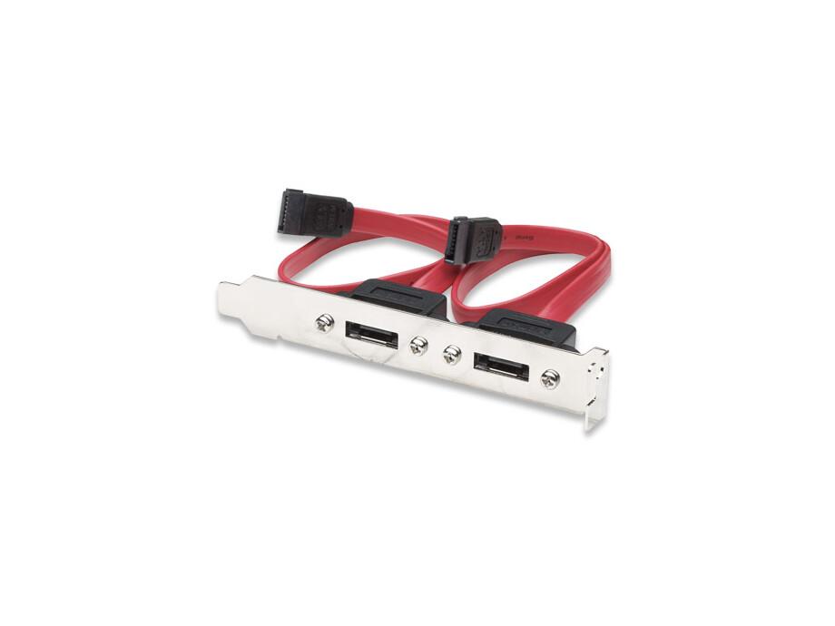 Kabelis SATA to ESATA (I type) slot with bracket Manhattan 0