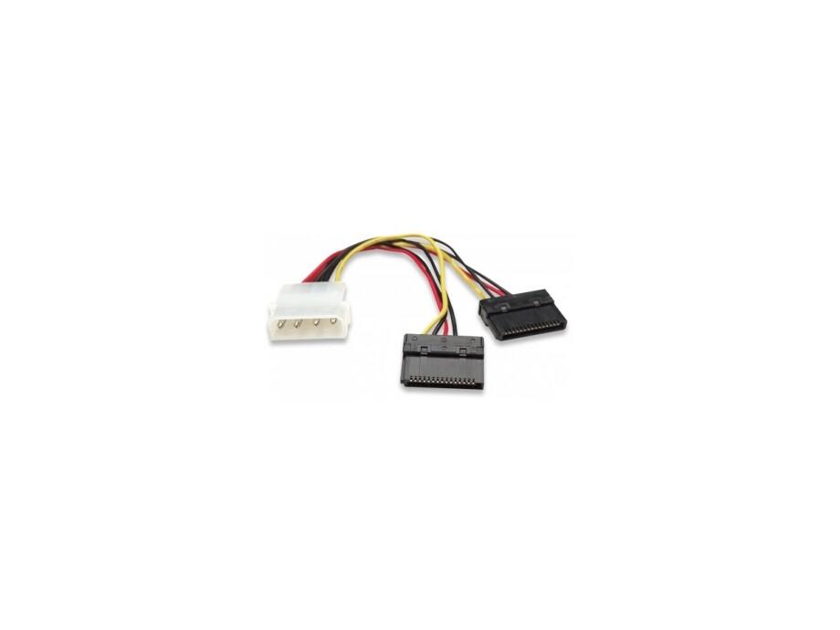 Barošanas pāreja HDD SATA Y-Power Cable 4pin 5.25``/2x15pin 0.15m 0