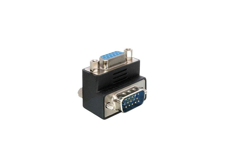 Adapteris VGA male-female (90°pa labi) 0