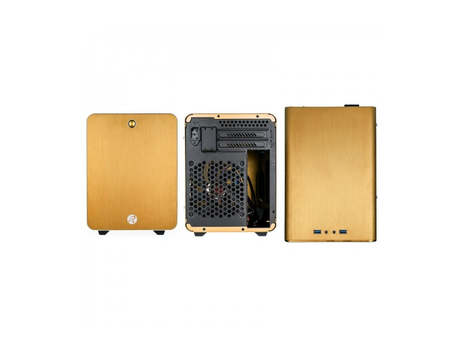 Korpuss RAIJINTEK METIS Mini-ITX Gold with Window 3