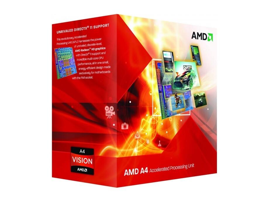 Procesors AMD APU A4 X2 3300 65W FM1 1MB 2500MHZ 0