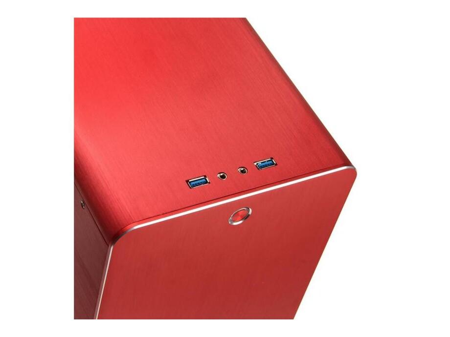 Korpuss RAIJINTEK METIS Mini-ITX Red with Window 2
