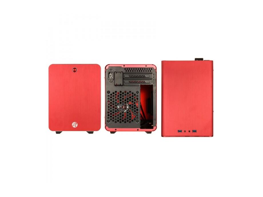 Korpuss RAIJINTEK METIS Mini-ITX Red with Window 3