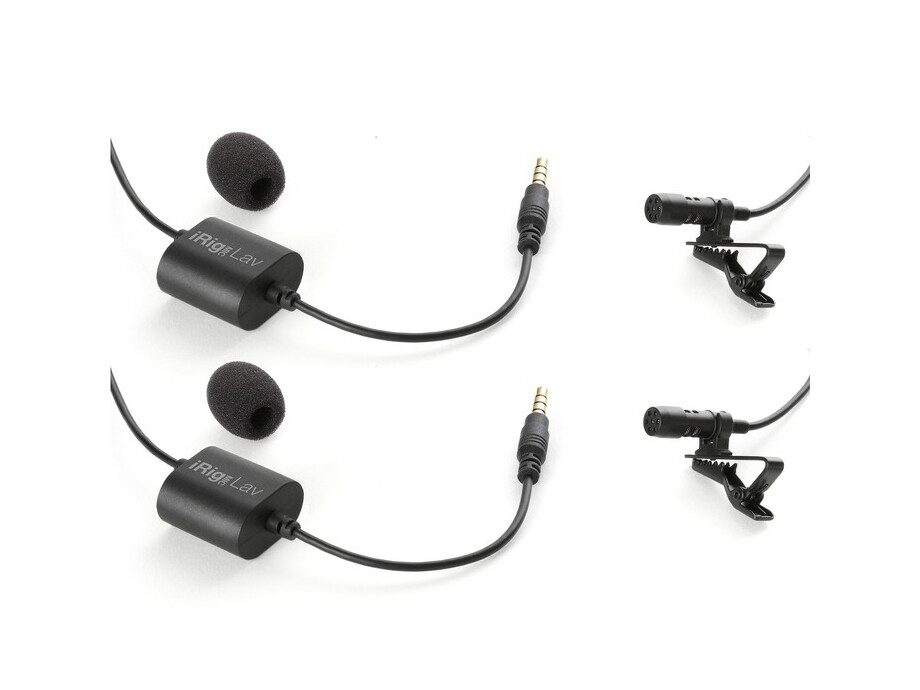 IK Multimedia iRig Mic Lav mobile lavalier with built-in monitoring capability iOs Android (2 pack) 0