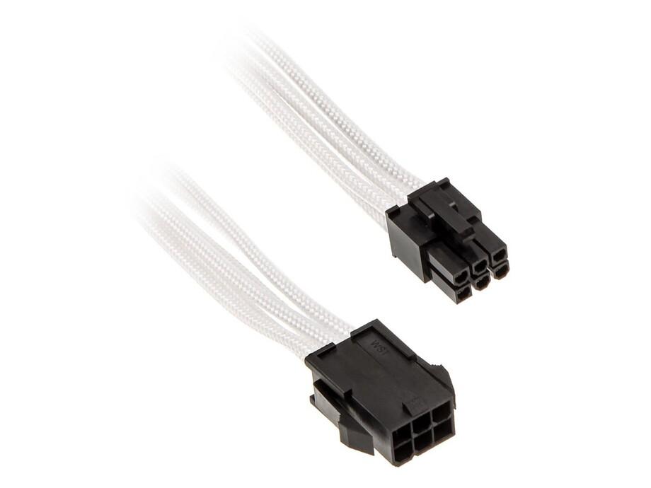 Kabelis PHANTEKS 6-Pin PCIe Extender 50cm - sleeved white 0