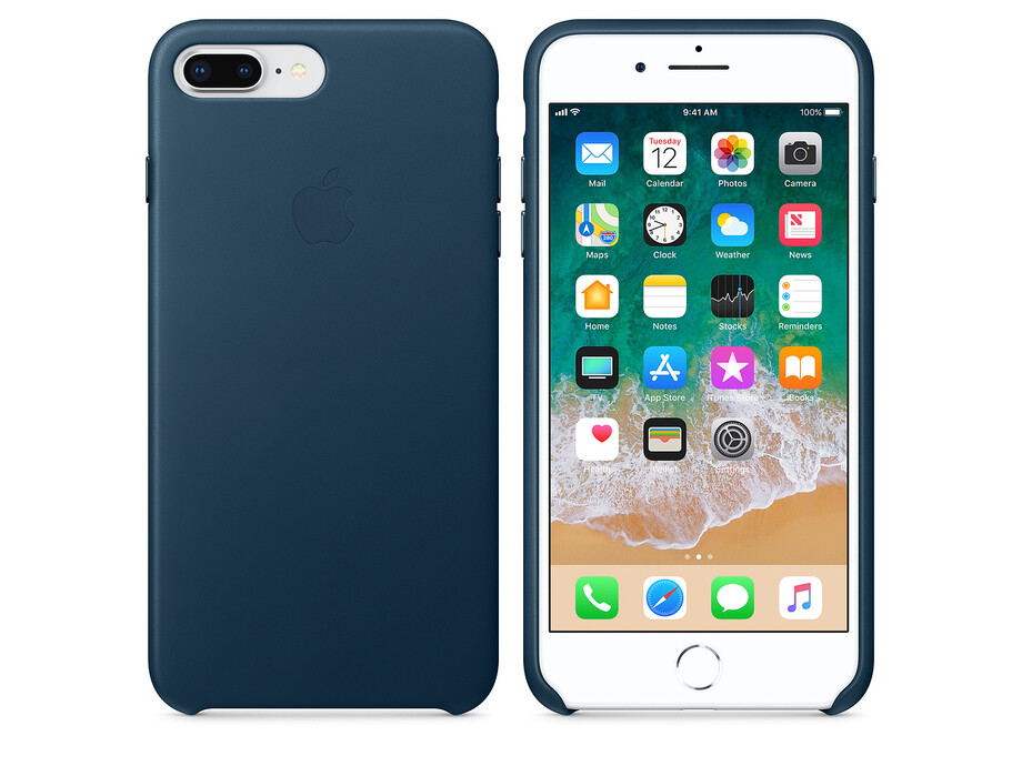 MQHR2 Apple iPhone 7/8 plus  Leather Case - Cosmos Blue 2