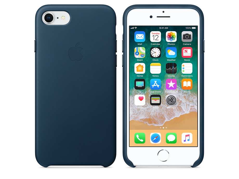 MQHF2 Apple iPhone 7/8 Leather Case - Cosmos Blue 1